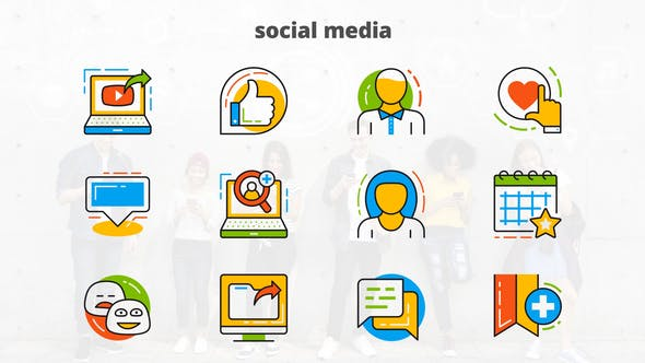 Thumbnail for Social Media - Flat Animated Icons