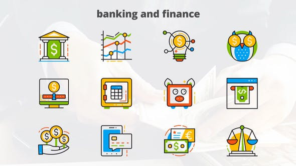 Thumbnail for Banking and Finance - Flat Animated Icons