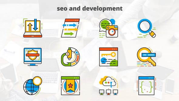 Seo And Development - Flat Animated Icons