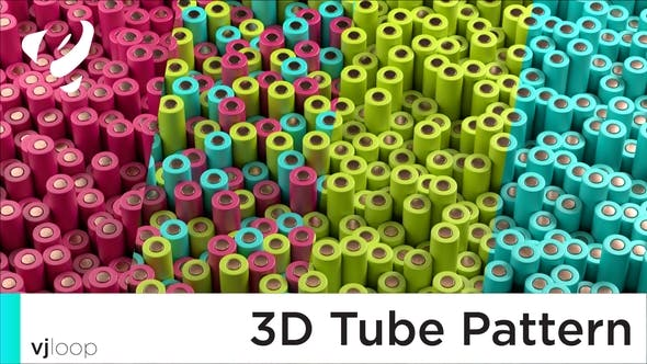 Thumbnail for Colorful 3D Pattern VJ Loop