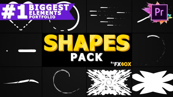 Cover Image for Cartoon Shapes Pack | Premiere Pro MOGRT