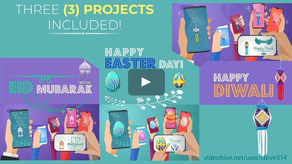 Happy Easter Day - Diwali - Eid Mubarak - Social Share