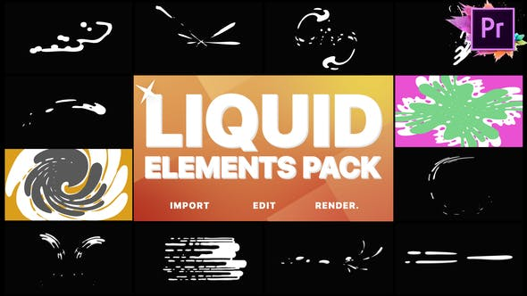 Thumbnail for Liquid Motion Elements And Transitions | Premiere Pro MOGRT