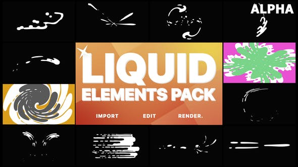 Thumbnail for Liquid Motion Elements And Transitions | Motion Graphics Pack