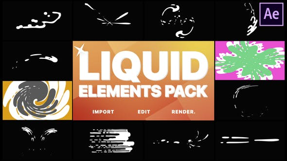 Thumbnail for Liquid Motion Elements And Transitions | After Effects