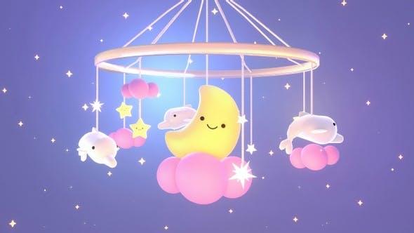 Baby Crib Moon Toy