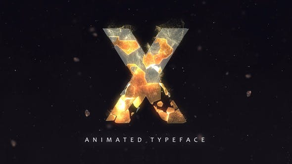 Thumbnail for Fracture Titles - Animated Typeface