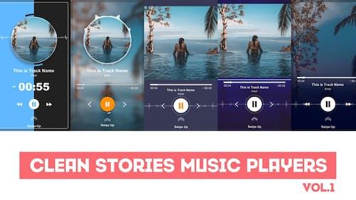 Reproductores de música de historias limpias
