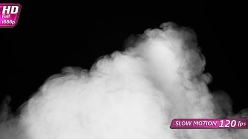 White Smoke Covers A Black Screen
