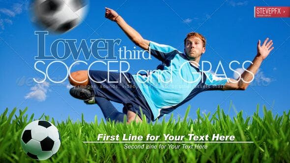 Thumbnail for Soccer and Growing Green Grass Lower Third