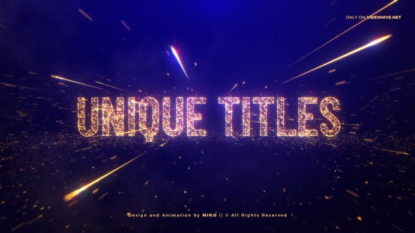 Thumbnail for Awards Gold Particles Titles
