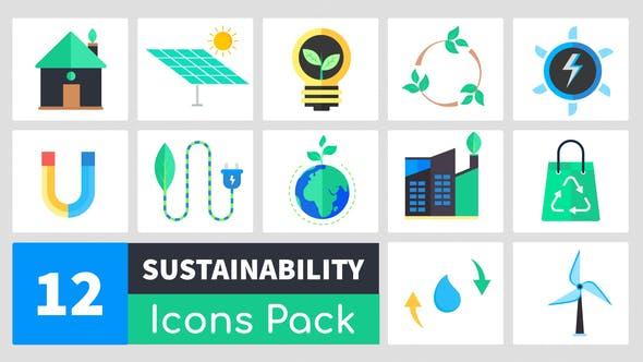 Thumbnail for Paquete de Íconos de sostenibilidad