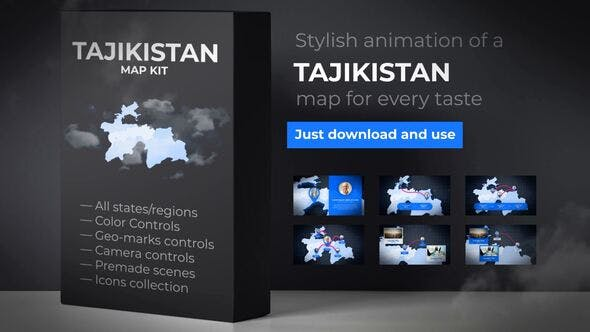 Thumbnail for Carte du Tadjikistan - Kit de cartes de la République du Tadjikistan