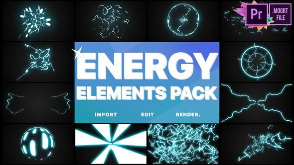 Thumbnail for Energy Elements Pack   Premiere Pro MOGRT
