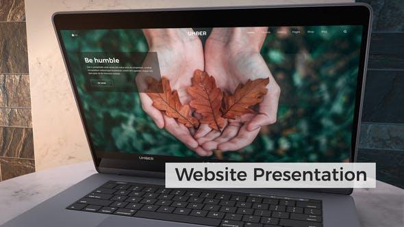 Thumbnail for Презентация сайта | Макет ноутбука