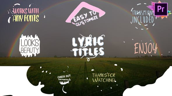 Thumbnail for Cartoon Lyric Titles | Premiere Pro MOGRT