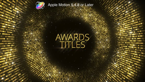 Thumbnail for Awards Titles - Apple Motion