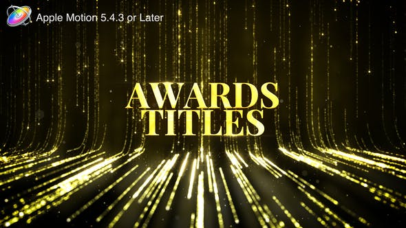Awards Titles - Apple Motion