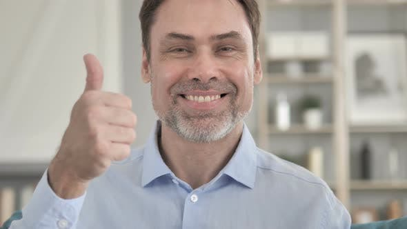 Cover Image for Thumbs Up by Senior Aged Man
