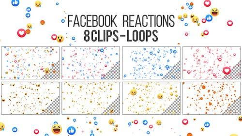 Facebook Reactions Loop - 8 Clips