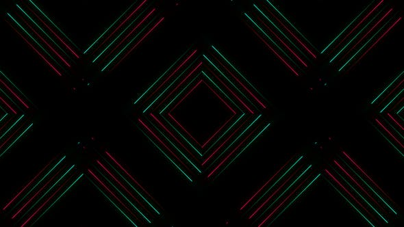 Thumbnail for Colorful Glow Lines VJ Loop Background