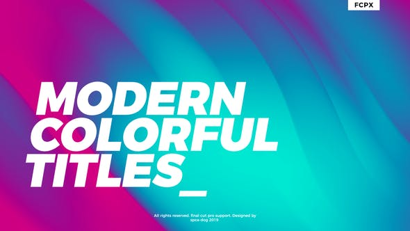 Cover Image for Modern Colorful Titles | FCPX or Apple Motion
