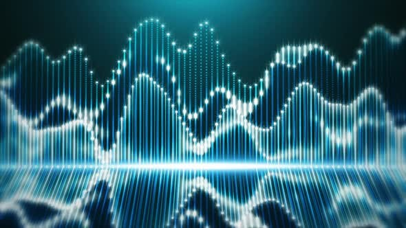 Thumbnail for Audio Waveform on Digital Equalizer