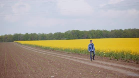 Thumbnail for Love of Agriculture - Modern Farmer Using Digital Tablet at Farm