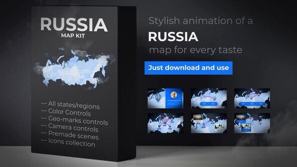 Thumbnail for Russia Map - Russian Federation Map Kit