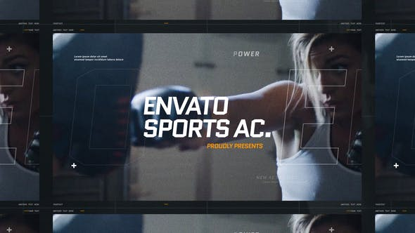 Thumbnail for Dynamic Sport Opener / Fitness and Workout / Event Promo / Fast Typography