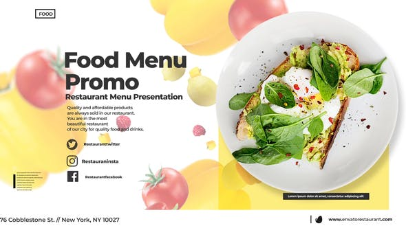 Thumbnail for Food Menu Promo