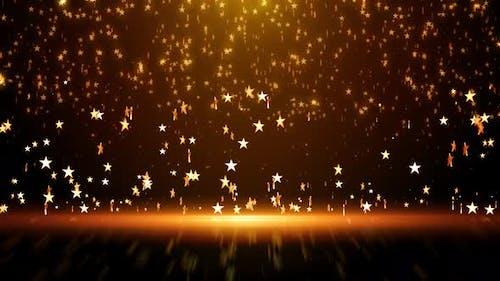 Falling Golden Particles Star Background 60fps 4k