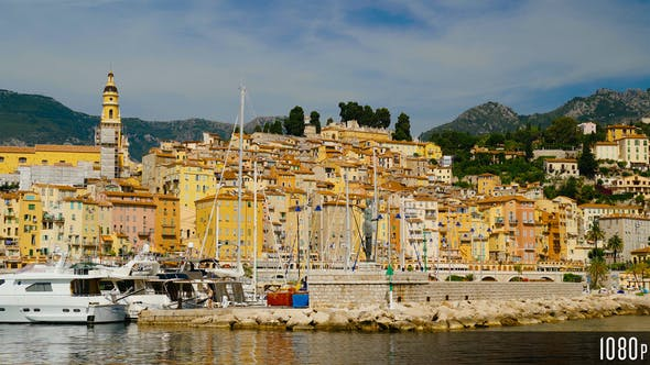 Menton Town in France