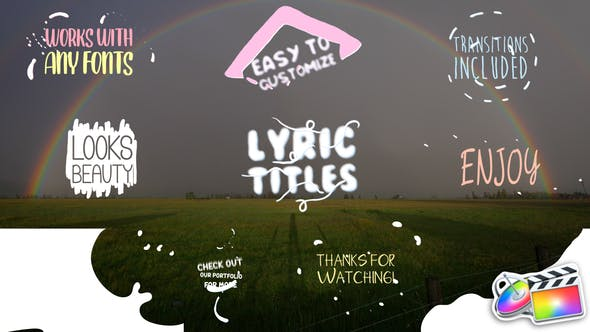 Thumbnail for Cartoon Lyric Titles | FCPX