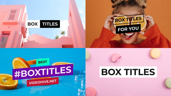 Thumbnail for Titres BOX et Banderoles vidéo pour After Effects