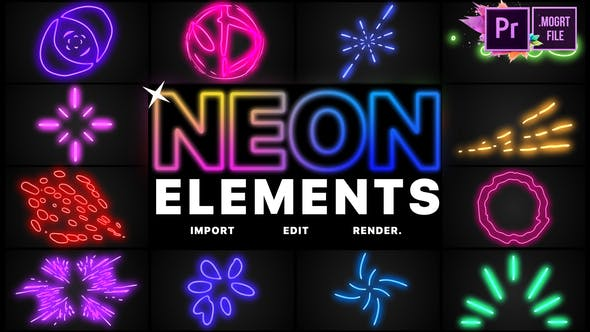 Thumbnail for Neon Elements | Premiere Pro MOGRT