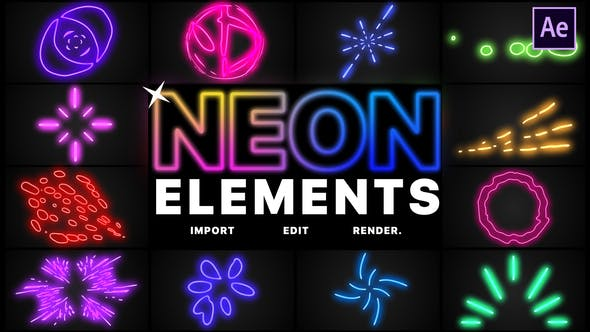 Thumbnail for Neon Elements | After Effects