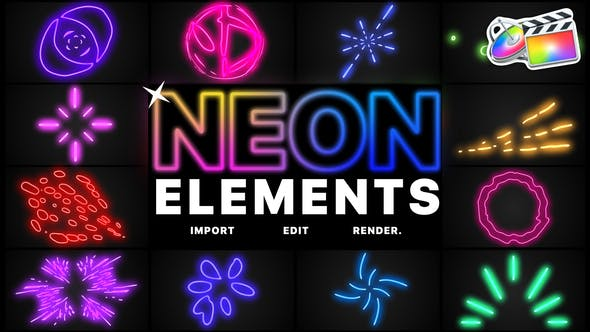 Thumbnail for Neon Elements | FCPX