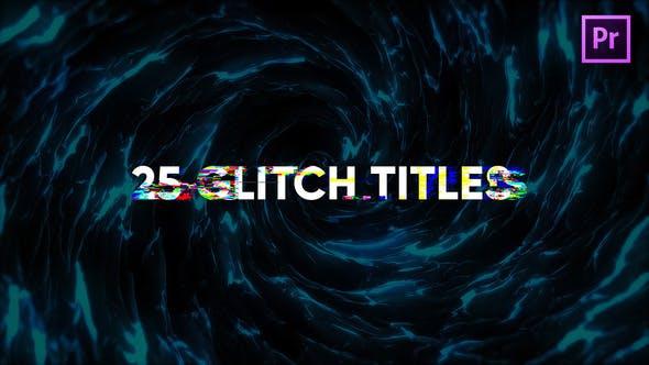 Thumbnail for Glitch titres modernes pour Premiere Pro