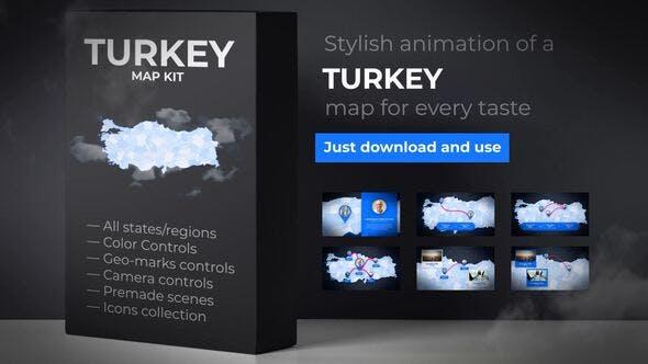 Thumbnail for Mapa de Turquía - Kit de mapas de la República de Turquía