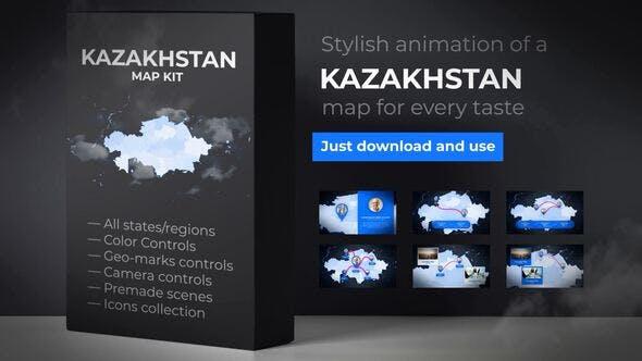 Thumbnail for Kazakhstan Map - Republic of Kazakhstan Map Kit