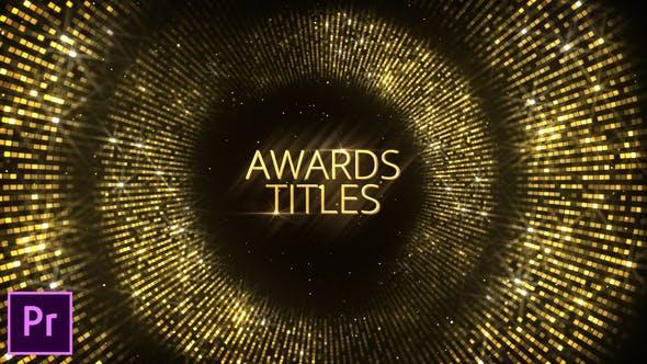 Thumbnail for Titres de récompenses - Premiere Pro