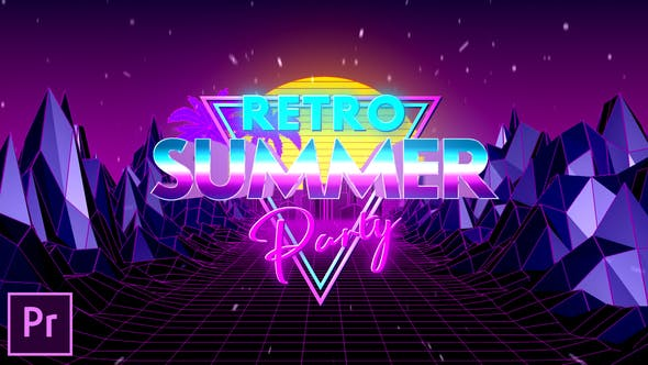 Thumbnail for Retro Summer Party Opener - Premiere Pro