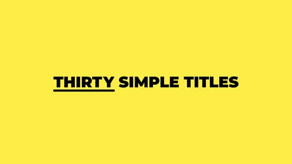 Thumbnail for Thirty Simple Titles