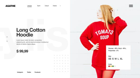 Minimal Fashion Store / Clean Market Promo / Clothes Collection Shop / Product Presentation