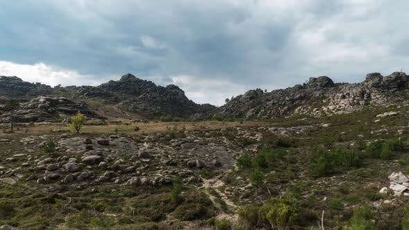 Clouds on National Park of Gerês in Portugal