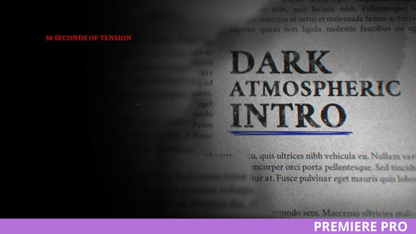 Thumbnail for Taku / Dark Atmospheric Intro for Premiere