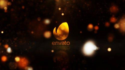 Gold Reflective Logo Reveal