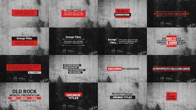 Grunge Titles | Essential Graphics