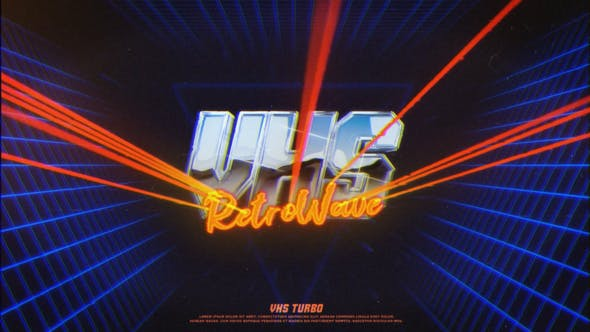 Logo VHS rétro